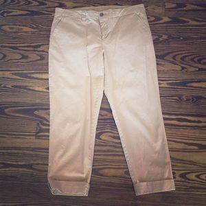 Gap Broken in Straight Khaki Crop Pants Size 12